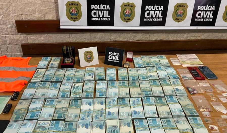 Polícia Civil apreende pedras preciosas e mais de R$ 600 mil durante Operação em cidades da região