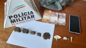 Suspeito de tráfico em Leopoldina é preso com drogas pela PM em Recreio