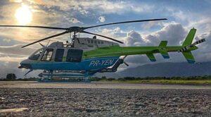 Energisa utiliza helicóptero para inspeções na rede elétrica