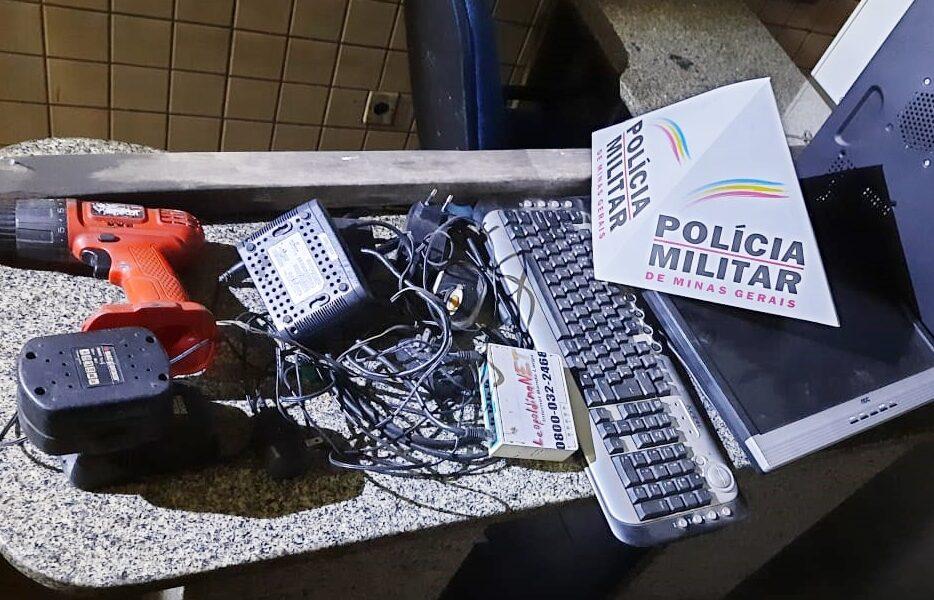 Policiais Militares de Leopoldina prendem criminoso antes da vítima perceber furto em empresa